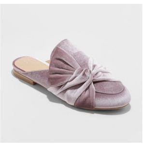 A New Day HOLLAND Purple Lavender Velvet Mules